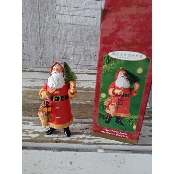 Hallmark Winterberry Santa 2000 ornament Christmas